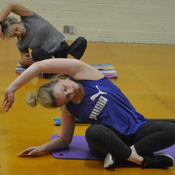 working hard at debbie saunders workouts weston super mare